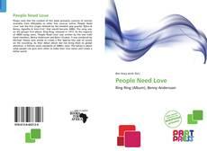 Buchcover von People Need Love