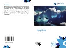 Bookcover of Antal Lux