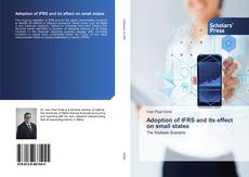 Portada del libro de Adoption of IFRS and its effect on small states