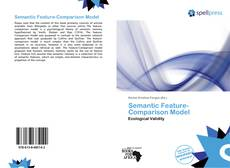 Bookcover of Semantic Feature-Comparison Model