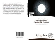 Copertina di Anthropologische Gesellschaft Londons