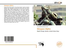 Weapon Alpha的封面