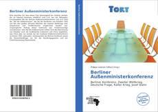 Capa do livro de Berliner Außenministerkonferenz