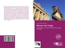 Portada del libro de Werner Von Trapp