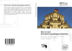 Berliner Bundestagsabgeordneter kitap kapağı