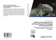 Portada del libro de Berliner Gesellschaft für Anthropologie, Ethnologie und Urgeschichte
