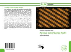 Bookcover of Antikes Griechisches Recht