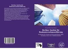 Buchcover von Berliner Institut für Bankunternehmensführung