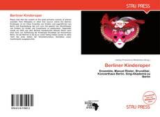 Berliner Kinderoper kitap kapağı