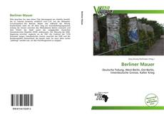 Berliner Mauer kitap kapağı