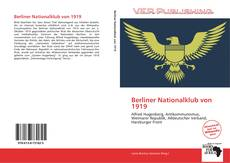 Bookcover of Berliner Nationalklub von 1919