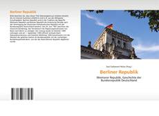 Bookcover of Berliner Republik
