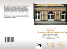 Bookcover of Berliner Stadtverordnetenversammlung