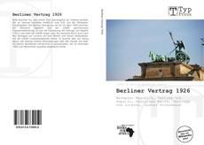 Capa do livro de Berliner Vertrag 1926