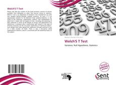 Bookcover of Welch'S T Test