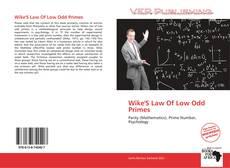 Wike'S Law Of Low Odd Primes kitap kapağı