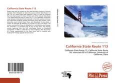 Bookcover of California State Route 113