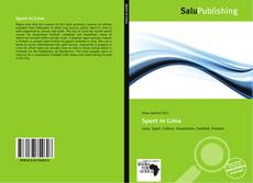 Bookcover of Sport in Lima