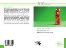 Bookcover of Antiochos III.