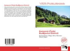 Bookcover of Kamenná (České Budějovice District)