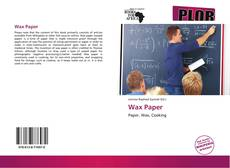 Couverture de Wax Paper