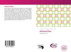 Capa do livro de Antoine Étex