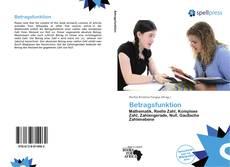 Buchcover von Betragsfunktion