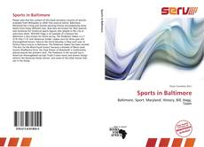 Capa do livro de Sports in Baltimore