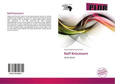 Bookcover of Rolf Krüsmann