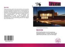 Buchcover von Betrieb