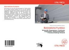 Borítókép a  Betriebliche Funktion - hoz