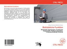 Betriebliche Funktion kitap kapağı