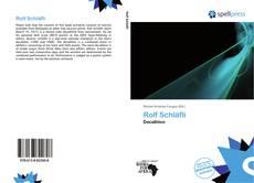 Couverture de Rolf Schläfli