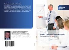 Bookcover of Policy Lessons from Australia