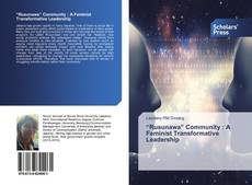 "Bookcover of ""Rusunawa"" Community : A Feminist Transformative Leadership"