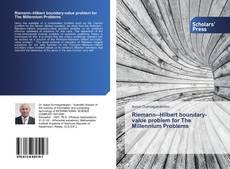 Bookcover of RiemannHilbert boundary-value problem for The Millennium Problems