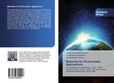 Bookcover of Materials for Photovoltaic Applications