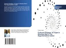 Buchcover von Cultural Chutzpa: A Trope in Amartya Sen's The Argumentative Indian