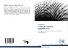 Обложка Violin Concerto (Beethoven)