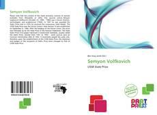 Portada del libro de Semyon Volfkovich