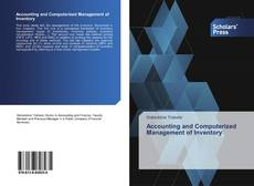 Bookcover of Accounting and Computerized Management of Inventory
