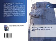 Copertina di An Analysis Of The Two Great Speeches By Martin Luther King