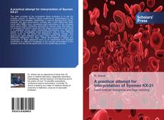Capa do livro de A practical attempt for interpretation of Sysmex KX-21