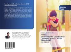 Couverture de Developmental Coordination Disorder (DCD)- CLINICAL REASONING