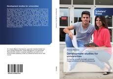 Bookcover of Development studies for universities
