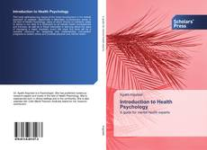Bookcover of Introduction to Health Psychology