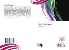 Bookcover of Roll's Critique