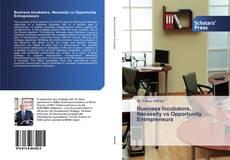Borítókép a  Business Incubators, Necessity vs Opportunity Entrepreneurs - hoz