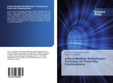 Capa do livro de A Novel Modular Multiplication Technique for Public Key Cryptosystems