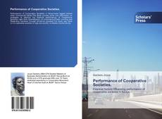 Bookcover of Performance of Cooperative Societies.